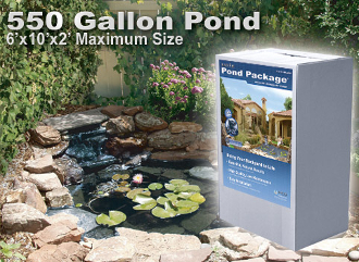 Savio 550 Gallon Pond Package - Makes a 6' x 10' Pond