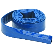"Lay Flat Blue Discharge Hose 1 1/2"" - 25 foot length"