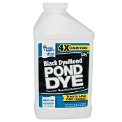 Black DyeMond Pond Dye by Pond Logic - 1 Quart Bottle