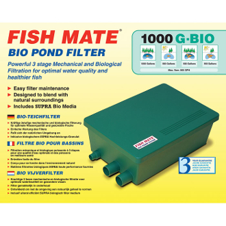 FISH MATE Bio Pond Filter 1000 GBIO 1000 gal