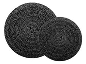 "Matala Black Filter Mat 22"" Diameter Round (least dense)"