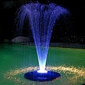 Alpine Floating Spray Fountain w/LED Lights & Pump